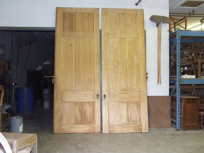 10 foot stripped doors & finish paint stripping stripping